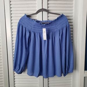 NWT Ann Taylor off-shoulder blouse